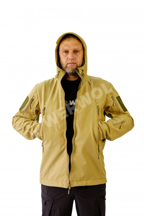 """Куртка мужская """"Рейнджер"""". Ткань софт-шелл на флисе"""